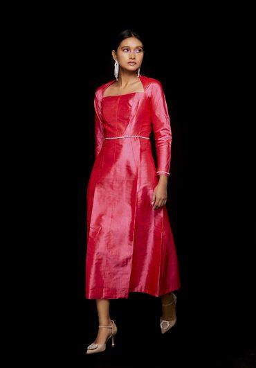 Handwoven Ankle Length Dress