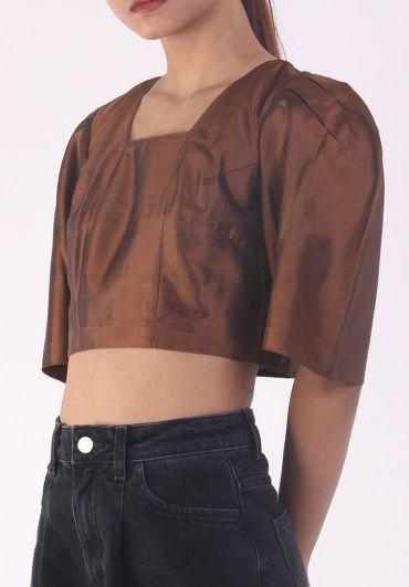 Handwoven crop blouse