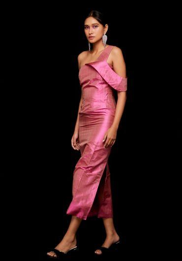 Handwoven One Shoulder Dress