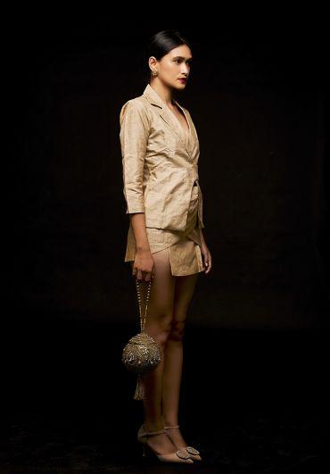 Muga blazer with skirt set